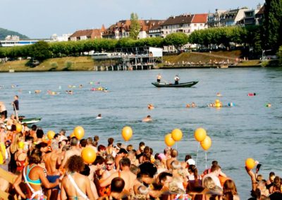Rhine River Swim, Basel, Switzerland